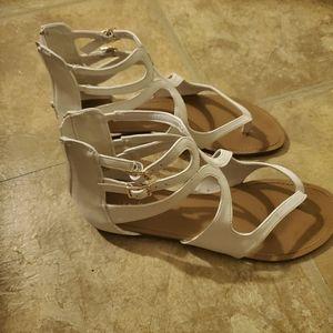 White strappy sandles